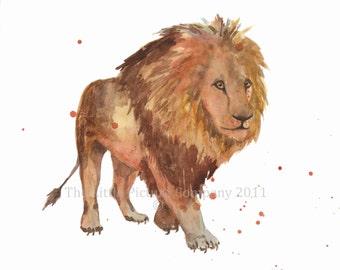 Lion Art, lion print