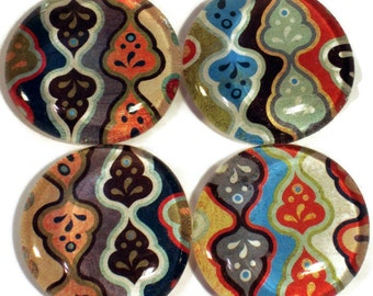 Glass Marble Magnets Refrigerator Fridge Magnet Set in Orchid Oolong