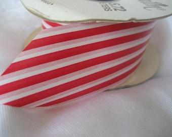 Spool of Vintage Candy Stripe Yardage Millinery Ribbon Trim