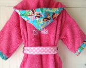 Child Robes-Girl-Girl-Kids-bath-Robe-Pink-Mermaid-Nautical-Bathrobes-Childrens-Sleepwear-Beach-Hooded-Swim-Suit-Terry-Cover Up