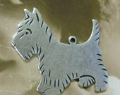 Silver Ox Plated Scottie Dog Charms 669SOX x2