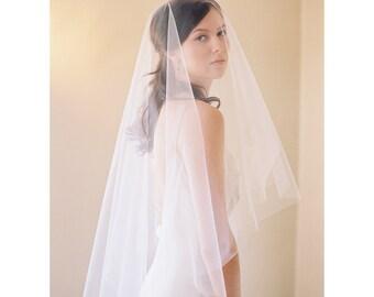 Bridal veil, blusher veil, circle veil, mantilla, drop veil, cut edge, Style 2037