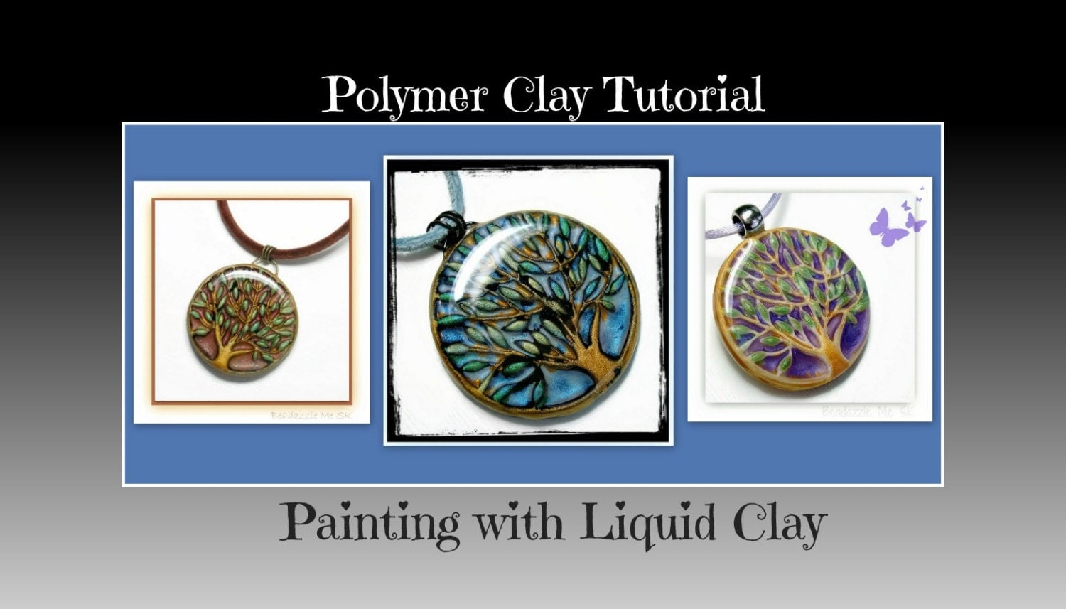 Jewelry tutorial painting with liquid polymer clay by for Clay mural tutorial