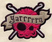 Pirate Yarn Sew-on Patch - Crochet Skulls