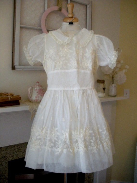 First Communion Dress Vintage Communion Dress Size 8