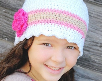 9 Sizes 30 Colors Baby Hat Toddler Hat Baby Girl Hat Toddler Girl Hat Womens Hat Crochet Flower Hat Flapper Beanie Lightweight Spring Summer