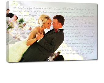 Cotton Anniversary Gift - Gift for Wife, - Wedding Art Canvas Gallery Wrap , Engagement  Anniversary Just Married Photo 20X30