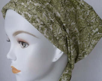 Antique Butterfly Cancer Hat Chemo Cream Scarf Head Wrap Hair Loss Turban Headcovering Bad Hair Day Hat