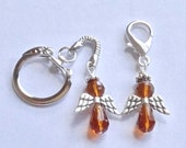 Appendix Cancer Angel Purse Charm or Key Chain - ACS Relay for Life Donation - Ready to Ship