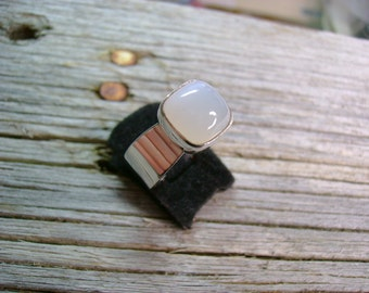 Moonstone and Silver Ring - Size 6.75