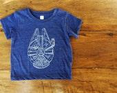 Star Wars, Millennium Falcon Tshirt,  3 months to 24 months