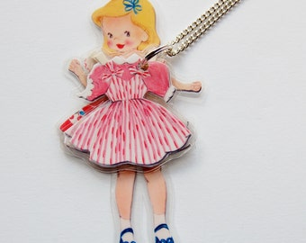 DeLiA LaMiNaTeD PaPeR DoLL NeCkLaCe