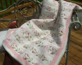 miniature quilt katie arthur Embroidery shabby country dollhouse scale