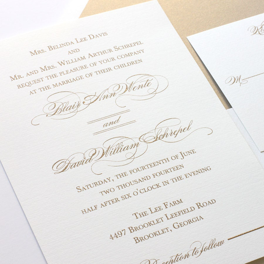 Thermography Weding Invitations 06 - Thermography Weding Invitations