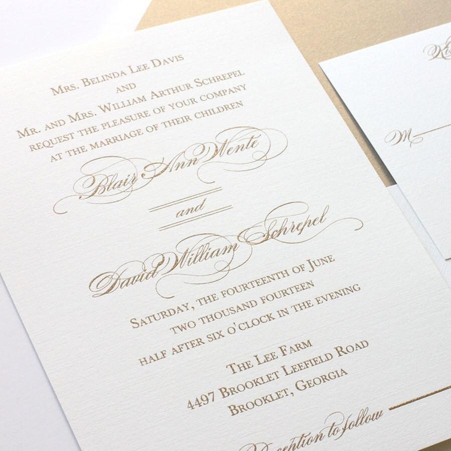 thermography wedding invitations etsy - 28 images - black monogram ...