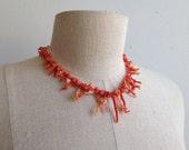 Vintage Natural Coral Necklace.