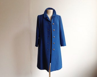 Vintage Cobalt Wool Coat.