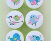 Bird Knobs • Chickadee Birds • Drawer Pulls • Dresser Knobs • Baby Nursery Decor