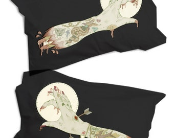 Zombie Hands Pillow, Tattoo Flash, Pillowcase Pair