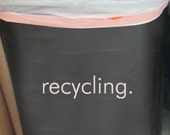 recycling. • Kitchen Decor • Organization • Recycling Label • Decal • Vinyl Lettering • Label • Vinyl Art Graphic Stickers Decals 1672