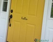 hello Front Door - Door or Porch Decals - Home Decor - Wall Lettering - Wall Decals -  Vinyl Wall Art Graphic Stickers Decals 1712