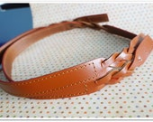 25 inches 1 pairs of Brown Leather Handbag Handle Bag Supply