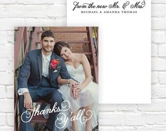 Wedding Photo Thank You Cards - Wedding Thank You Notes