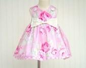 Girls Infant Toddler Baby Rose Dress in sizes NB-6