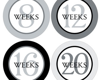 12 Weekly Pregnancy Mama-to-be Maternity Waterproof Glossy Stickers  - Monthly stickers available - Design W005-05