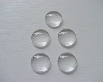 6 Custom Glass Domes for Pendant Tray Blanks 16mm (AE642)