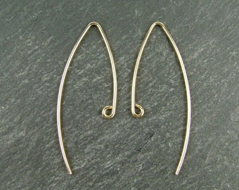 Gold Filled V Shape Ear Wire ~ PAIR (CG5683)