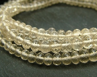 "Scapolite Rondelles, AAA, Faceted, 3.5-4.5mm - 8.25"" Strand (CG776aE)"