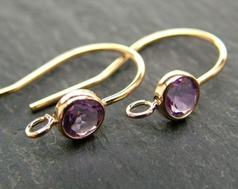 Gold Filled Amethyst Ear Wire ~ PAIR (CG6593)