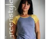 Greenstyle Centerfield Raglan T-Shirt PLUS Sizes 2XL to 3X PDF Sewing Pattern