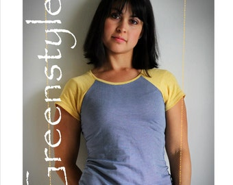 Greenstyle Centerfield Raglan T-Shirt PLUS Sizes 2XL to 3X PDF Sewing Pattern