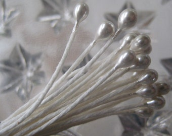 Millinery Flower Stamen Made In Germany 24 Pearly Peps  NN