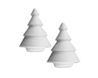 Spun Cotton Trees Czech Republic 2 Traditional Christmas Trees  SC 009