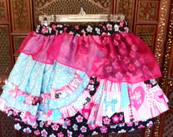 Floral Kitty Fantasy Skirt  size 4