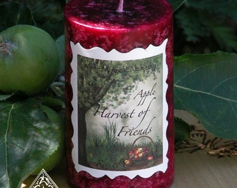 Harvest of Friends Mabon Ritual Candle 2x3 . Lughnasadh, Mabon, Autumn Harvest, Thanksgiving