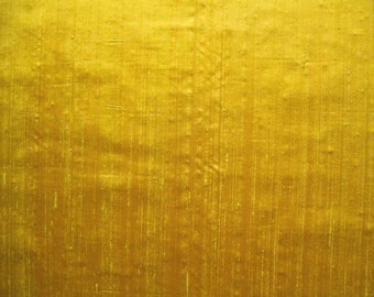 Silk Dupioni Yellow Iridescent Shiny 1/2 yard