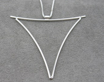 Modern Triangle Pendant- Negative Space Collection