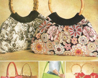 2003 McCall's Purse Bag Tote Lined Inside Pocket Pattern Uncut Sewing Women's Misses