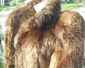 Last reduction  Exceptional Full length Authentic Fur Coat Beaver? Raccoon?