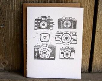 Cameras Letterpress Notecard