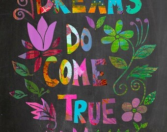 Chalkboard Wall Art, print, Inspirational Illustration
