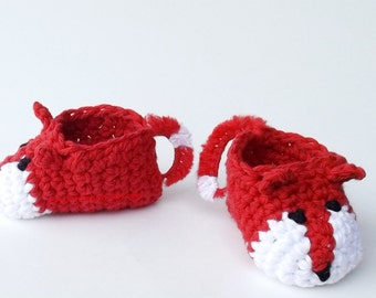 Fox Baby Booties Red Crochet Booties What Does The Fox Say