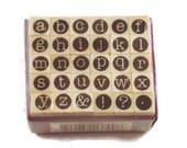 Mini Alphabet Rubber Stamp Set  (ARS-1)