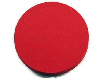 Two Inch Die Cut Paper Circles  2 inch Circles in  Red