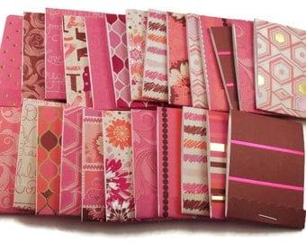 30  Matchbook Notepads  Matchbook Favors in  Haute Pink