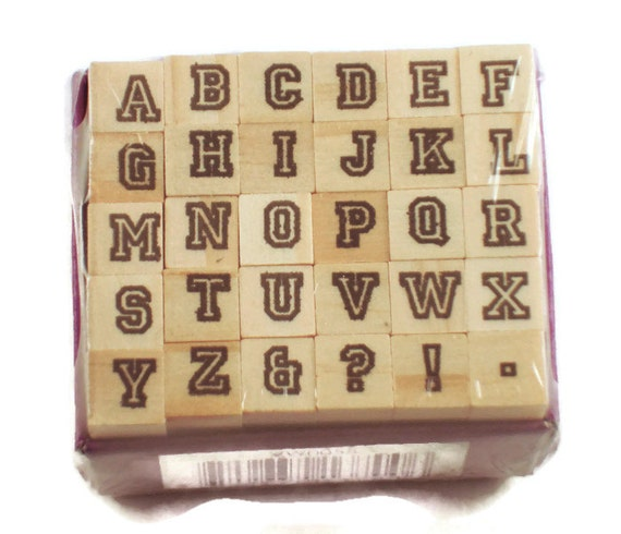 Mini Alphabet Rubber Stamp Set Ars 2
